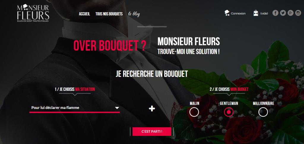 création de site internet de fleurs